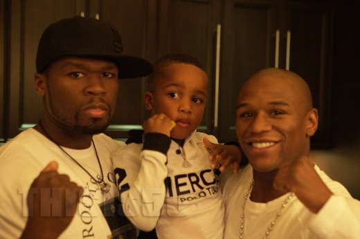50 Cent & Rick Ross' Son At Floyd Mayweather's Mansion ...