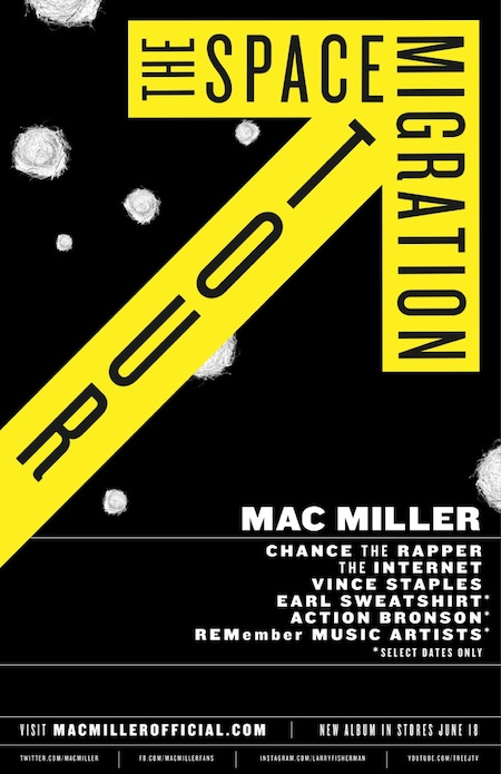 the space migration tour flyer